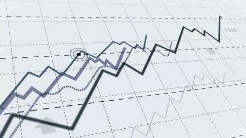 Growth up stock markets simple chart Animation