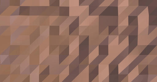 Abstract rose gold 3D geometric pattern. Mosaic metall background. Glamour Animation