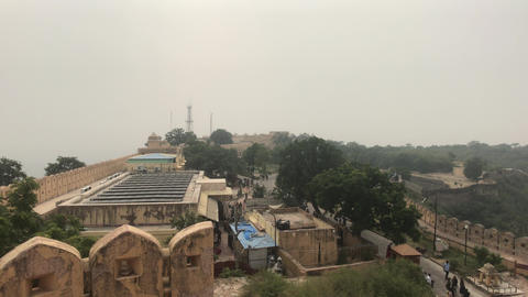 Jaipur, India - View of the fortress under the snout part 2 Live Action