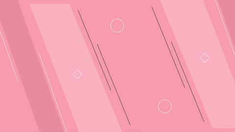 Dynamic pink looped shape background Animation
