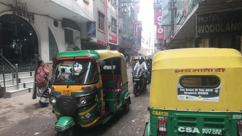 New Delhi, India, November 11, 2019, tourists and motor vehicles on the city Live Action