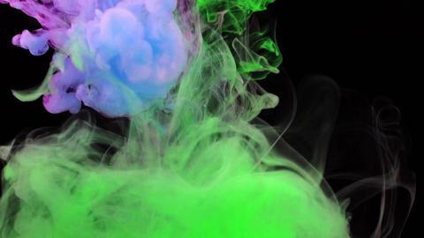 カラフル 煙 スモーク 液体 ループ エフェクト CG動画