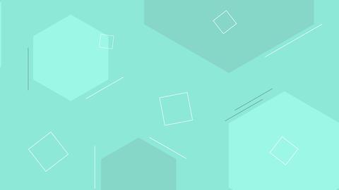 Dynamic looped cyan shape background Animation