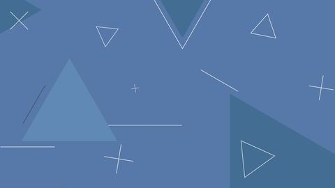 Dynamic looped dark blue shape background Animation