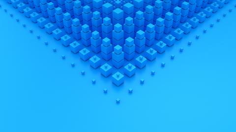 Cubes Form A Wave CG動画