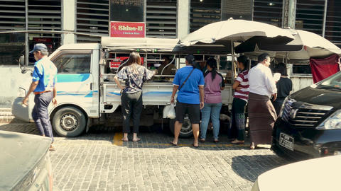 Bogyoke Aung San Market food vendor 2 Live影片
