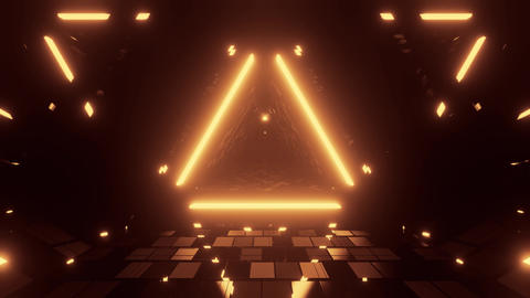 3d illustration background wallpaper with glowing triangles and cool reflections Animation