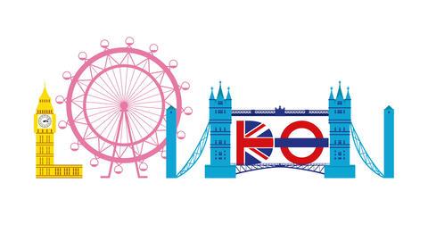London vector logo type animation CG動画
