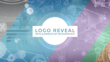 Logo Reveal With Elements Of Infographics After Effects Template