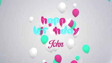 Happy Birthday wishes with Balloons After Effects Template