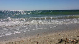 The view from the sandy shores of the Black Sea, the wind and waves Archivo