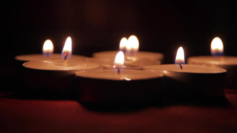 Beautiful Candles In A Romantic Setting, Valentine's Day Candles, Romance Live Action