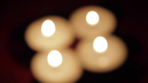 Beautiful Candles In A Romantic Setting, Valentine's Day Candles, Rack Focus Footage