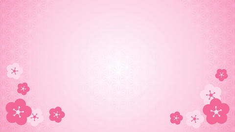 Twirling peach blossoms and japanese pattern Animation