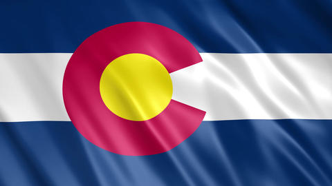 Colorado State Flag Animation