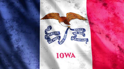 Iowa State Flag Grunge GIF
