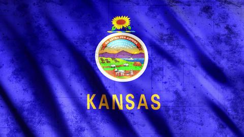 Kansas State Flag Grunge GIF