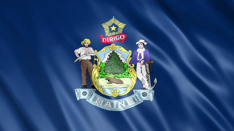 Maine State Flag Animation