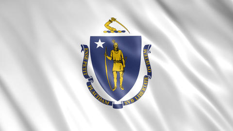 Massachusetts State Flag Animation