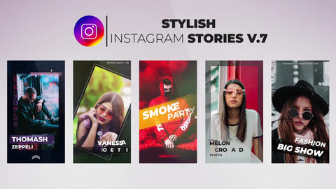 Stylish Instagram Stories v 7 After Effects Template