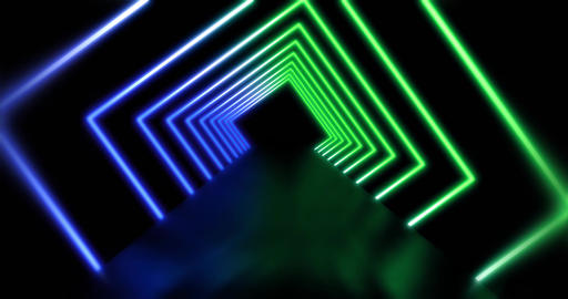 Neon Lines abstract path representing futuristic technology - 4k Animation