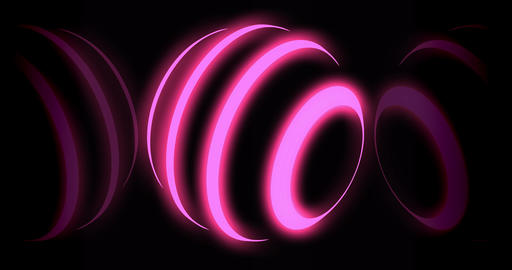 Neon orb glowing light represents a futuristic planet - 4k loop Animation