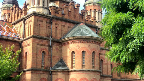 Beautiful historical building of Chernivtsi national university religious Live Action