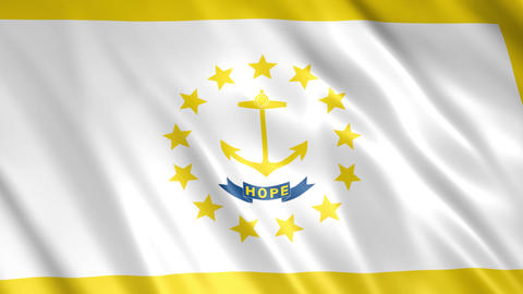 Rhode Island State Flag Videos animados