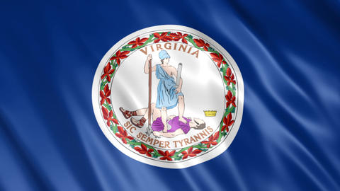 Virginia State Flag Animation