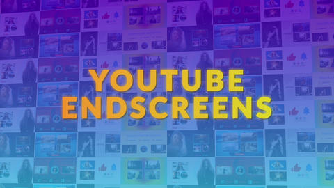 YouTube End Screens 2 Premiere Proテンプレート