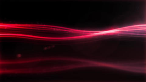 red Loop Particle circle stroke light line effect Animation