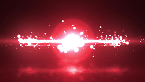 red Particle circle stroke light line effect Animation