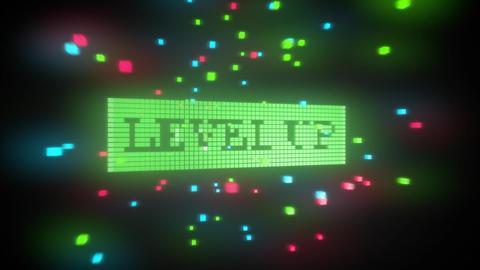 Level up-Pixelated 3D logo Animation