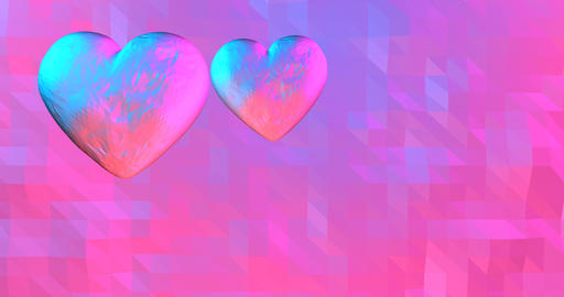 Neon background with glowing ultraviolet heart. For St. Valentines Day event,.3D Animation