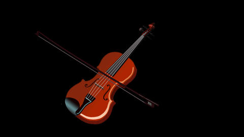 Playing the Violin Animation with Alpha Channel Animation