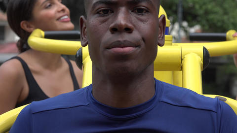 African American Man Exercising Live Action