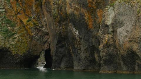 granite rock in avacha bay Footage