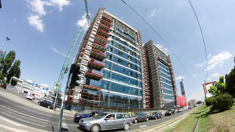 Big Business Center In Bucharest, Modern Architecture And Design, Busy Day 이미지