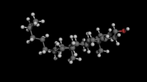 Cholesterol molecule model rotaing Stock Video Footage