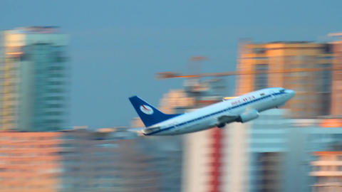 passenger plane takeoff Footage