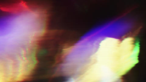 Software generated futuristic footage, iridescent corrupted data imitation Live Action