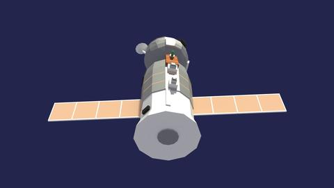 Low Poly Cartoony Soyuz Spacecraft 3D
