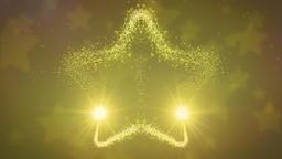 星を形成する2つの金色の光の帯 CG動画