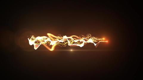 orange Particle circle stroke light line effect Animation