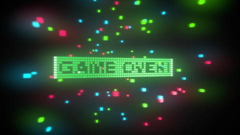 Game over-Pixelated 3D Animation