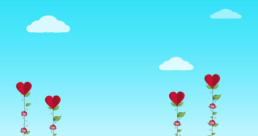 Valentine's day concept Background. Valentine's day Romantic background with hearts. Animated Live Action