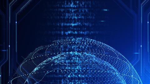 Digital data computer AI technologies concepts Background 5 blue27 CG動画