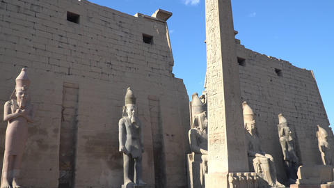 Luxor Temple in Luxor, ancient Thebes, Egypt. Luxor Temple is a large Ancient Live Action