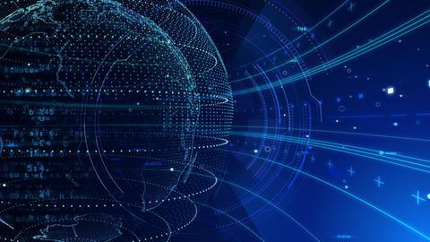 Digital data computer AI technologies concepts Background 5 blue29 Animation