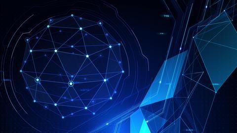 Digital data computer AI technologies concepts Background 5 blue09 CG動画